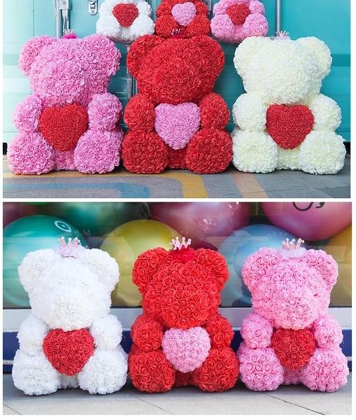 情人節特製客製化商品.520款40公分愛心抱抱熊.可自行搭配喜愛顏色