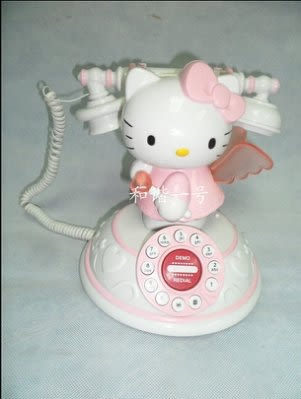 Hello Kitty 可愛天使電話 座機【藍星居家】