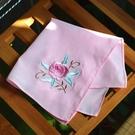 古風手帕女絲綢繡花年會手絹薄刺繡