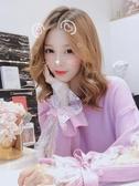 網紅套頭打底毛衣女秋冬新款韓版蕾絲長袖針織衫學生甜美寬鬆上衣   Cocoa