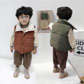 冬裝兒童新款雙面穿男童棉馬甲加厚保暖女童背心寶寶馬甲韓版-ifashion