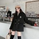 韓版外套XL-4XL 大碼女裝胖mm200斤加厚毛呢西裝款呢子外套2F133 依品國際