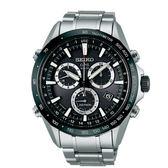 SEIKO精工 ASTRON GPS衛星 太陽能計時腕錶-黑(8X82-0AC0D/SSE011J1)