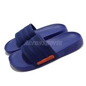 adidas 拖鞋 Racer TR Slide 藍 紅 柔軟舒適 愛迪達 男鞋 涼拖鞋 【ACS】 G58171
