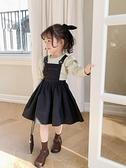 藍小爸童裝2021春秋夏新款女童連衣裙兒童寶寶背帶裙薄款洋氣裙子
