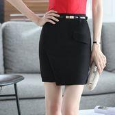 ZY-7175-PF中尺碼*清新素雅層次純色OL職業短裙(不含腰帶)~小三衣藏