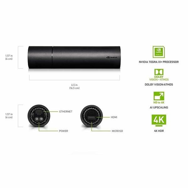 NVIDIA SHIELD Android TV 4K HDR 遙控器 杜比視覺 內置Google Assistant 可與Alexa配合 [2美國直購]