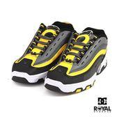 DC 新竹皇家 Legacy 黑灰色 皮質 線條 休閒運動鞋 男款 NO.B0384