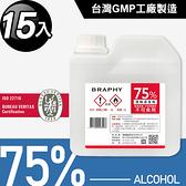 台灣GMP工廠製造75%酒精清潔液大容量1公升(15桶組)(BP0008)