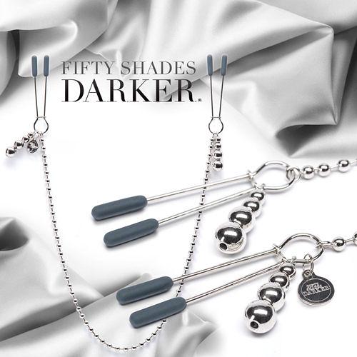 免運 滿額享折扣 咪咪夾-BDSM Fifty Shades Darker 格雷的五十道陰影2-束縛 可調式串珠鍊條 乳頭夾