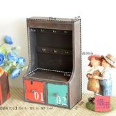 鑰匙盒玄關桌面收納盒木質門口掛鑰匙壁掛式鑰匙盒實木鑰匙盒家用  igo 居家物語