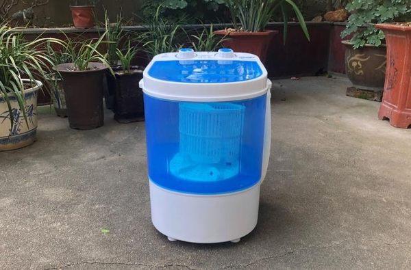 迷你小型洗衣機單筒桶宿舍半全自動洗脫一體嬰兒童微型脫水帶甩干 電壓:220v igo 『米菲良品』