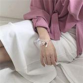 手環手鐲 溫柔氣質少女草莓晶手鍊甜美百搭閨蜜 飾品 俏腳丫