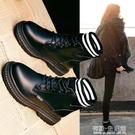 馬丁靴女潮ins年新款秋冬季加絨百搭英倫風瘦瘦鞋網紅短靴子 雙十二全館免運