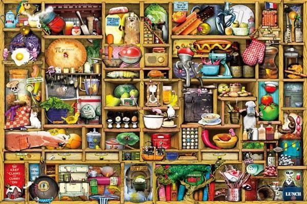 【拼圖總動員 PUZZLE STORY】神奇廚房(作者:Colin Thompson) PuzzleStory X Apple one/繪畫/1000P