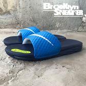 Nike Benassi Solarsoft 藍底白勾 拖鞋 男 (布魯克林) 2018/7月 705474-402