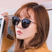 現貨-貓眼個性新款太陽眼鏡韓版明星網紅同款墨鏡不規則金屬邊街拍潮 343