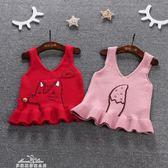 精靈女童春秋裝新款寶寶連身裙1-3歲嬰兒公主裙子針織吊帶背心裙『夢娜麗莎精品館』