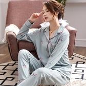 春秋中年睡衣女秋冬季純棉長袖大碼媽媽寬鬆中老年女士家居服套裝