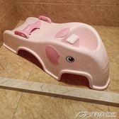 可折疊兒童洗頭躺椅寶寶洗頭椅小孩洗頭床加大號嬰兒洗發架可坐躺igo  潮流前線