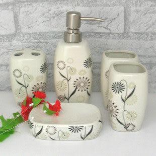 廚房衛浴 洗浴浴室五件套潔具 創意陶瓷衛浴 Y102