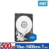 【綠蔭-免運】WD5000LPCX 藍標 500GB(7mm) 2.5吋硬碟/3Y