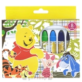 〔小禮堂〕迪士尼 小熊維尼 盒裝8色蠟筆組《黃.朋友》美術用品.銅板小物 4941829-00576