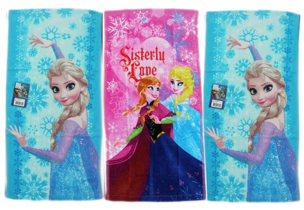 【卡漫城】 冰雪奇緣 小毛巾 3條一組 艾莎 ㊣版 Frozen 安娜 Elsa Anna 童巾 洗臉巾 毛巾
