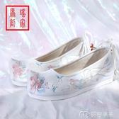 古裝鞋春秋內增高復古女弓鞋古代漢服配鞋子古風女鞋繡花鞋布鞋翹頭 麥吉良品