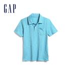 Gap 男童 棉質舒適POLO領短袖 569100-丹青藍