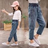 女童牛仔褲春裝寬松長褲中大童休閑小腳兒童褲子【奇趣小屋】