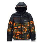 羽絨外套連帽夾克-冬季保暖時尚迷彩男外套2色73kf41[巴黎精品]
