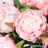 手捧花 Lancol歐式仿真花 粉色芍藥 客廳臥室裝飾花 手捧花配花假花絹花 晶彩生活