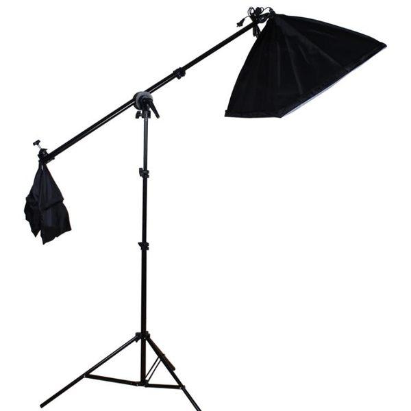 虞光攝影頂燈補光 攝影燈攝影棚 橫臂架 2米燈架 50*70柔光箱