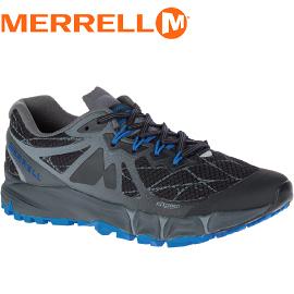 【MERRELL 美國 男款 AGILITY PEAK FLEX 慢跑鞋〈黑/藍〉】ML37699/休閒鞋/登山鞋/運動鞋