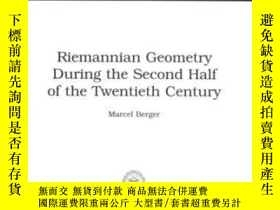 二手書博民逛書店Riemannian罕見Geometry During The Second Half Of The Twenti
