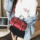 韓版時尚復古迷你手提包休閒斜挎學生休閒女包