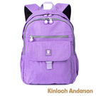 金安德森 極簡玩色大容量雙拉鍊經典後背包 紫色