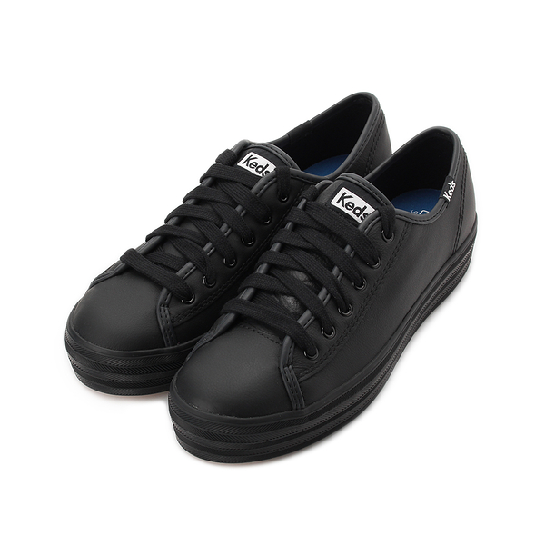 KEDS TRIPLE KICK 時尚皮革厚底休閒鞋 黑 9191W132225 女鞋