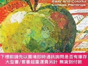 二手書博民逛書店Painted罕見Paper Art Workshop: Easy and Colorful Collage Pa