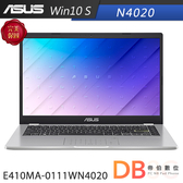 ASUS E410MA-0111WN4020 14吋 N4020 HD 平價輕薄 夢幻白 筆電(6期0利率)