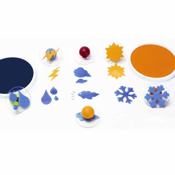 四季天氣大印章 兒童幼兒教具教學道具彩繪著色畫圖用具親子同樂綜合活動藝術與人文