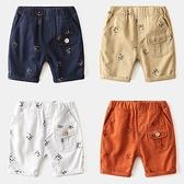 *╮小衣衫S13╭*夏季男童滿印童趣熊貓休閒中褲短褲1090704