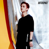 OUTER SPACE  PURE BLACK LOGO T(黑)