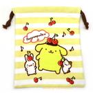 asdfkitty可愛家-布丁狗毛巾布材質束口袋/收納袋/置物袋-也可當禮物袋-日本正版商品