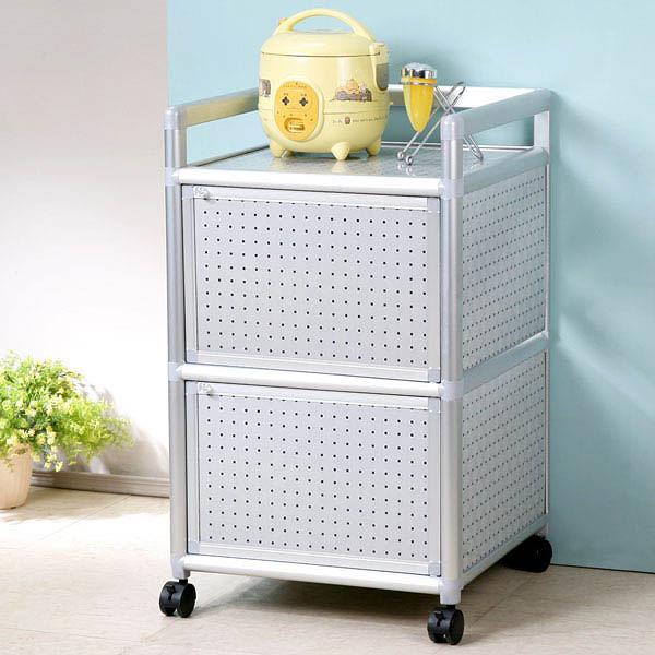 YoStyle 鋁合金1.5尺二門收納櫃(黑花格) 泡茶櫃 活動架 鋁架 小吃店 餐廳 碗盤櫃