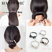 盤髮器 懶人花苞頭飾品女丸子頭盤髮器造型器韓國百搭蓬鬆扎頭髮花朵神器 店慶降價
