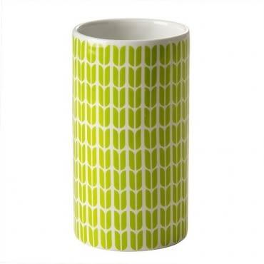 HOLA home格緻陶瓷漱口杯 綠色