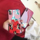 藍光斗牛犬蘋果6手機殼iphone6splus/7/8/x男女款硅膠軟套全包邊 藍嵐