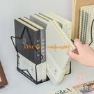 2片裝可調節書夾書靠 簡易網格桌上書立桌面課桌收納書架【少女顏究院】